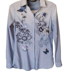 Desigual embroidered shirt blouse